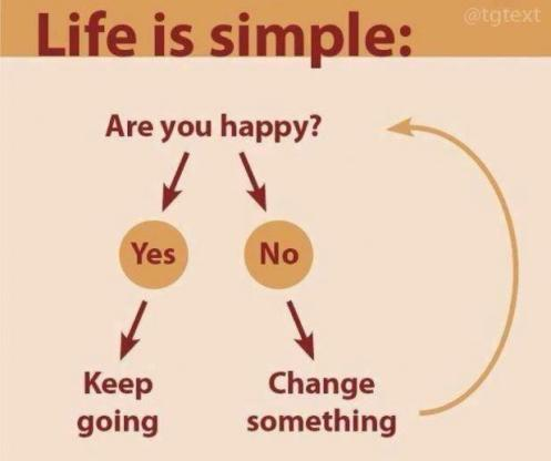 life is simple change something