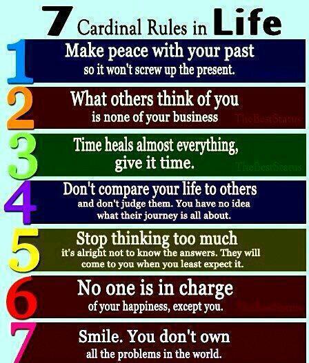 7 cardinal rules life