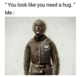 i don't want a hug