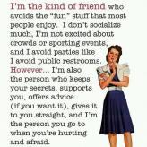 I'm an introvert friend