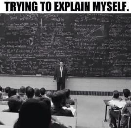 introvert explaining himselft