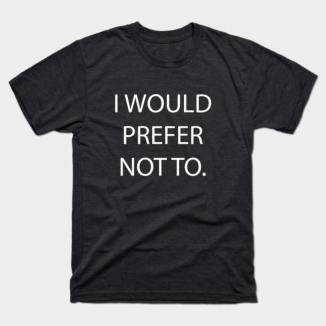 introvert I'd prefer not to t shirt