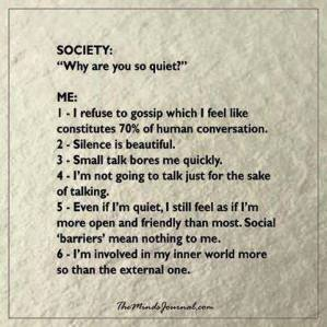 introvert thoughts
